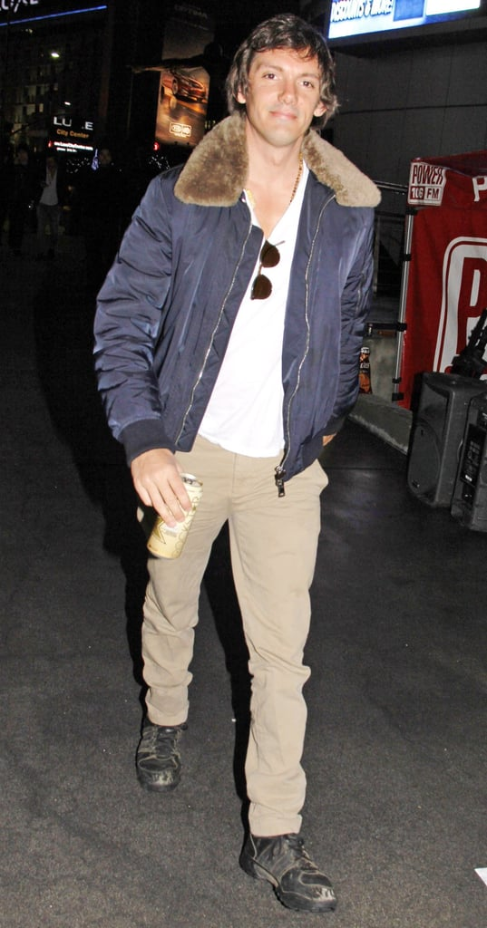 Lukas Haas at the Jay-Z concert in LA.