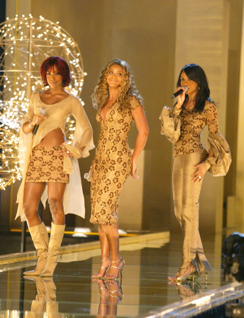 Kelly Rowland, Beyoncé, and Michelle Williams graced the stage in 2002.