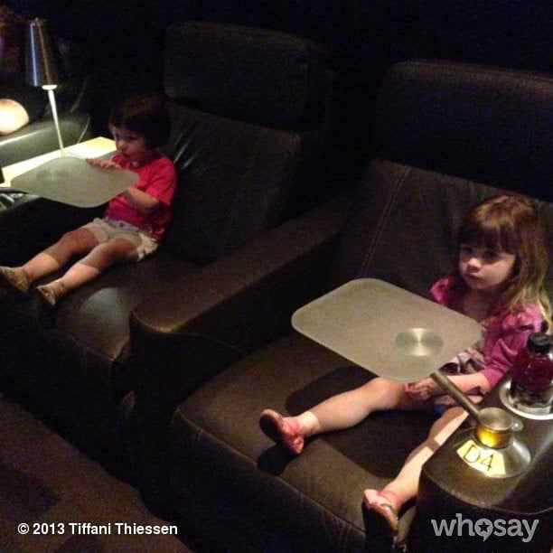 Harper Smith took in a screening of Monsters University with her pal Simone Masterson-Horn. Source: Instagram user tathiessen