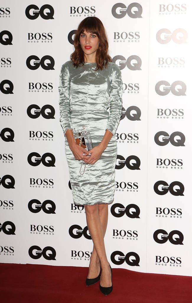 At the GQ Men of the Year Awards, Alexa Chung flaunted her figure in a ruched metallic sheath.