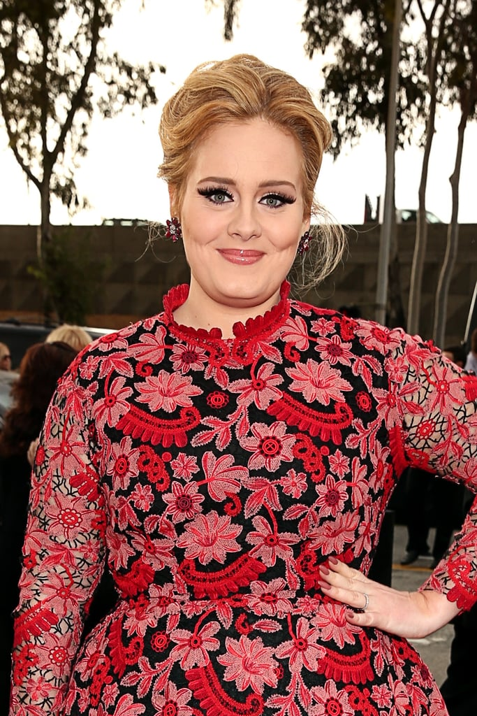 Adele look flawless on the red carpet at the Grammys in LA on Sunday night.