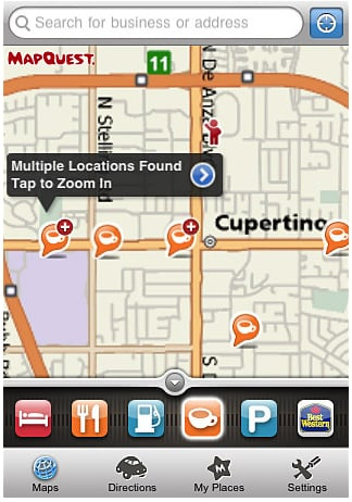 MapQuest Launches a New iPhone 4 Mobile Version