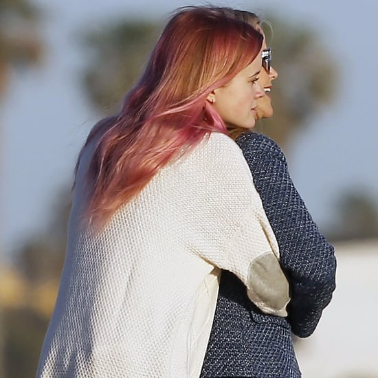 Reese Witherspoon and Ava Phillippe Hugging on the Beach