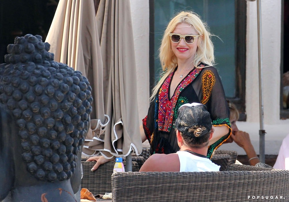 Gwen Stefani and Gavin Rossdale enjoyed lunch at the beach.