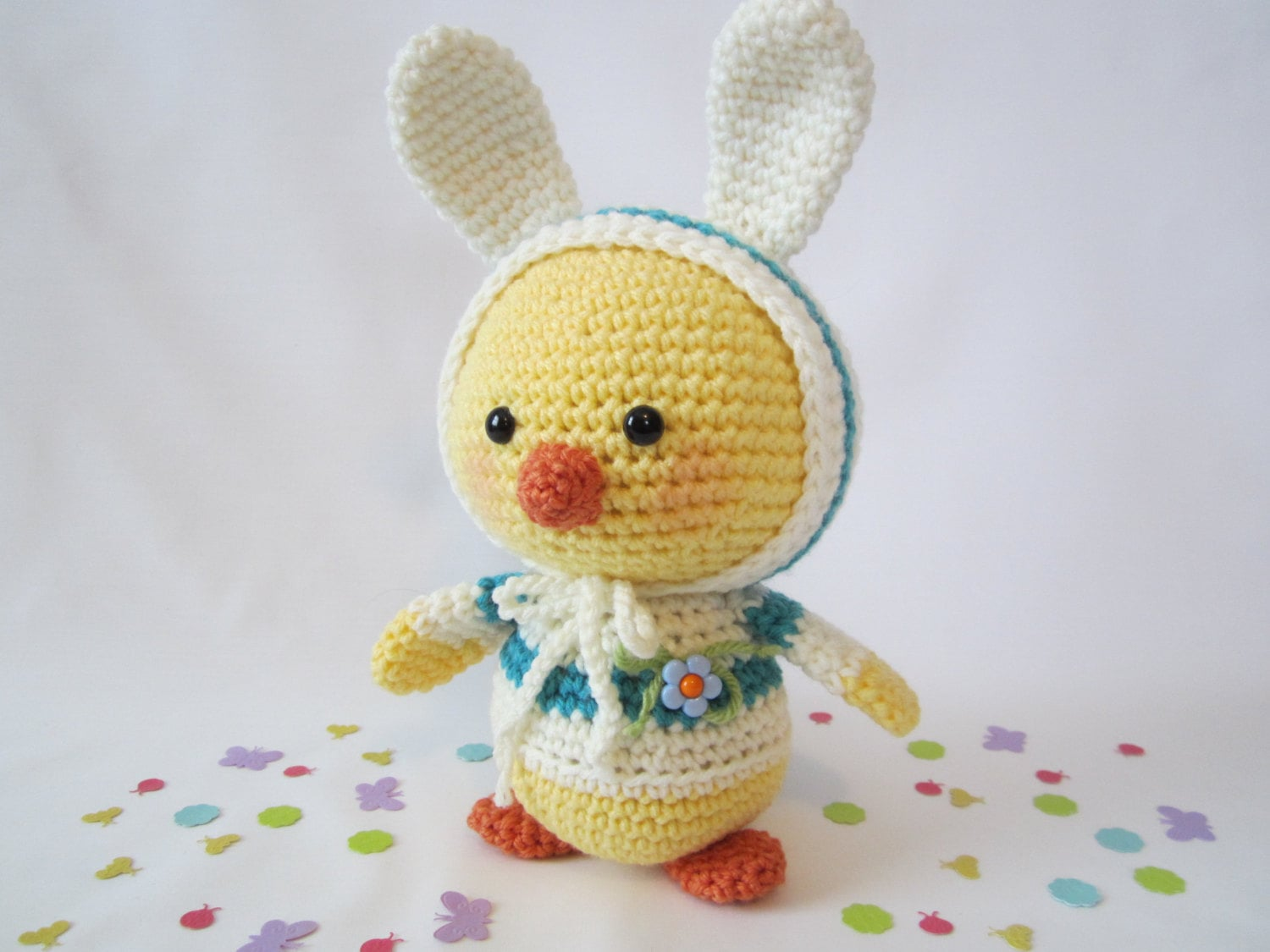 CR Originals Easter Chick in Bunny Ear Hoodie