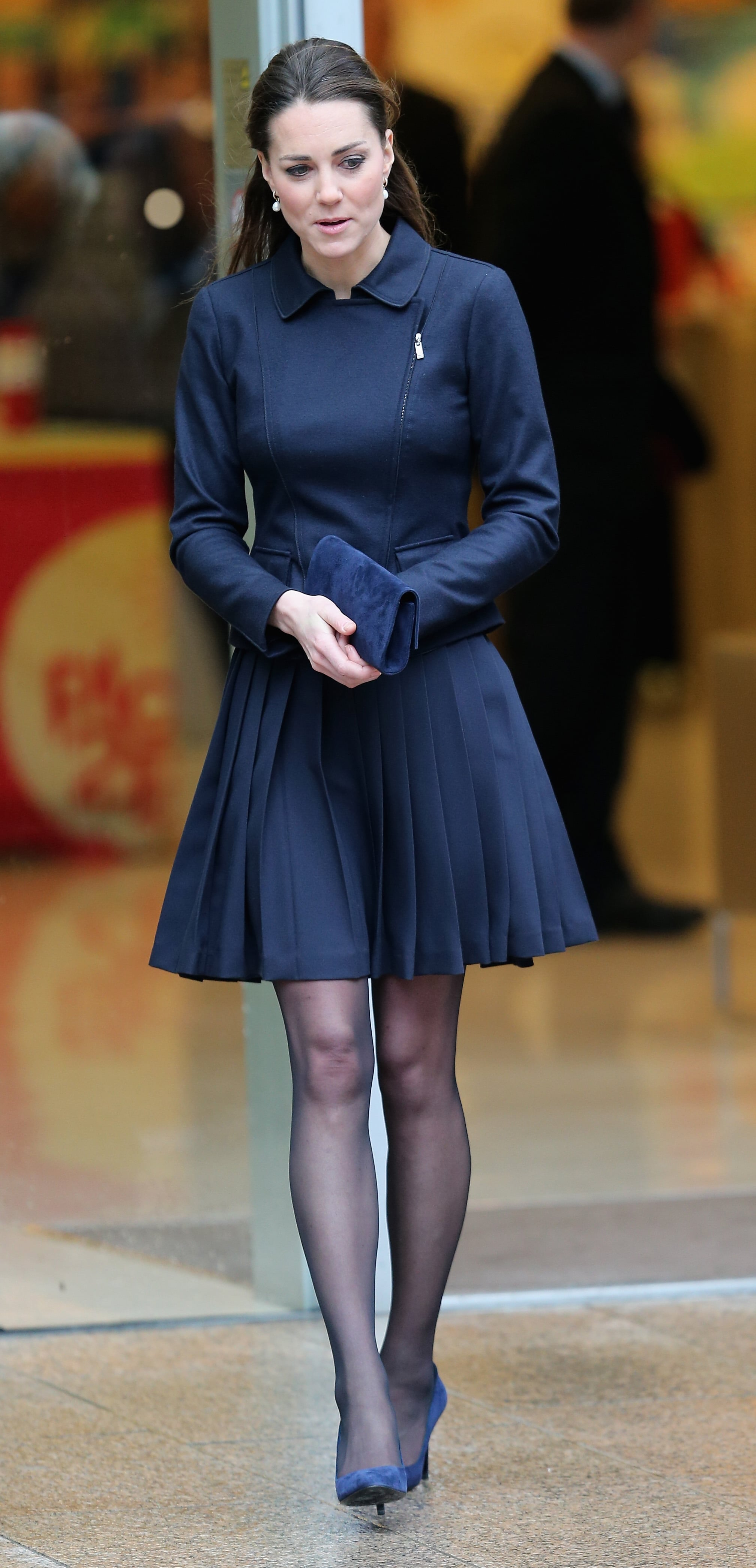 Kate Middleton in a Navy Dress
