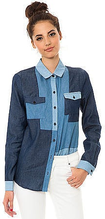 This MKL Collective patchwork denim button-down ($40) will make your denim-on-denim look that much cooler.