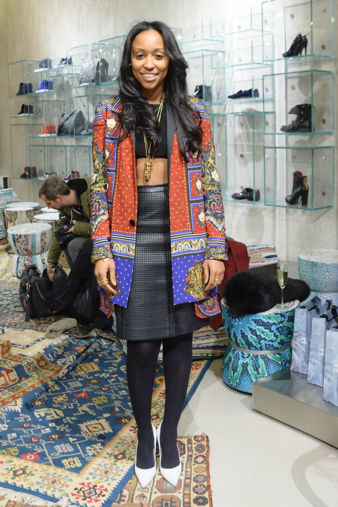 Shiona Turini at the Just Cavalli cocktail party.