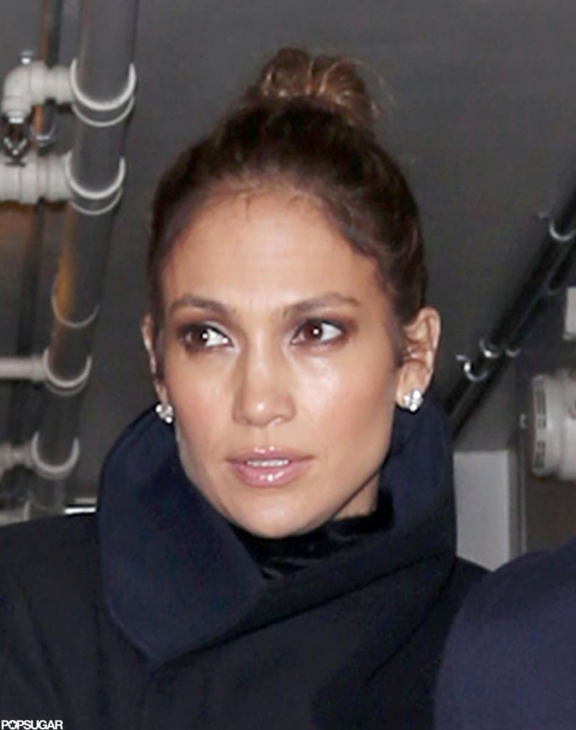 J Lo and Casper Smart Leave Hand in Hand After a Late Night