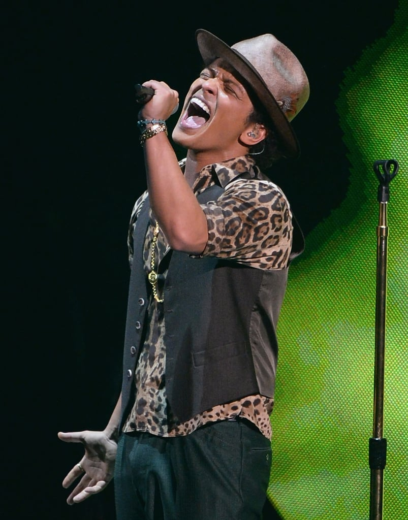 Bruno Mars took the stage for a performance at the VMAs.
