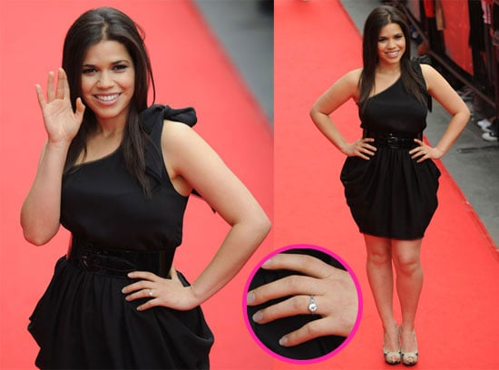 Pictures of America Ferrera's Engagement Ring as She Announces She's Engaged to Boyfriend Ryan Piers Williams