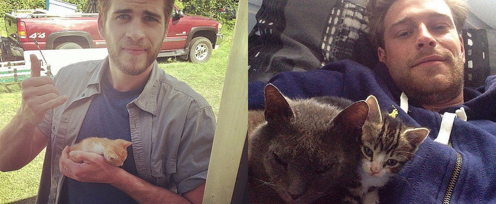 POPSUGAR Shout Out: These Guys Are Gorgeous, and They're Hugging Cats!