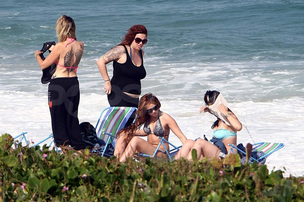 Miley Cyrus and Her Mom Break Out Their Bikinis in Brazil!