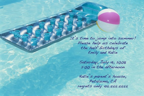 Pool Party Invite: Step by Step