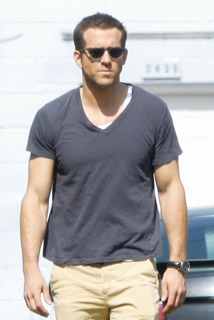 Ryan Reynolds relaxed between takes of his film Selfless on Tuesday in New Orleans.