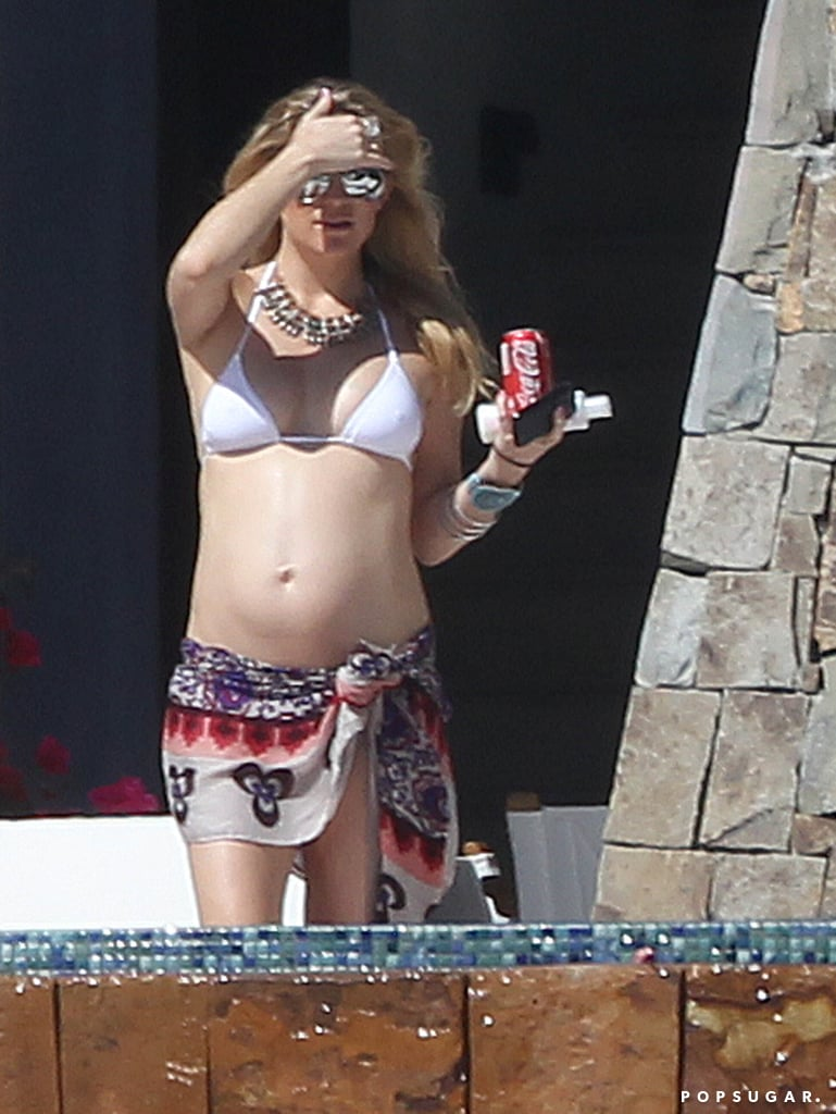 A pregnant Kate vacationed in Cabo during March 2011.