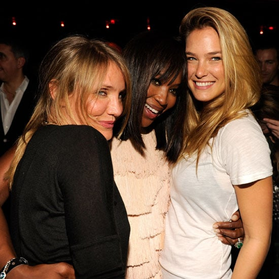 Cameron Diaz Pictures at Studio 54 With Refaeli, Campbell