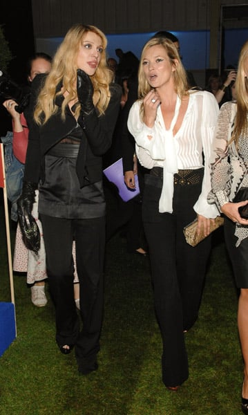 Kate Moss Supports Her Famous Fashionable Friends