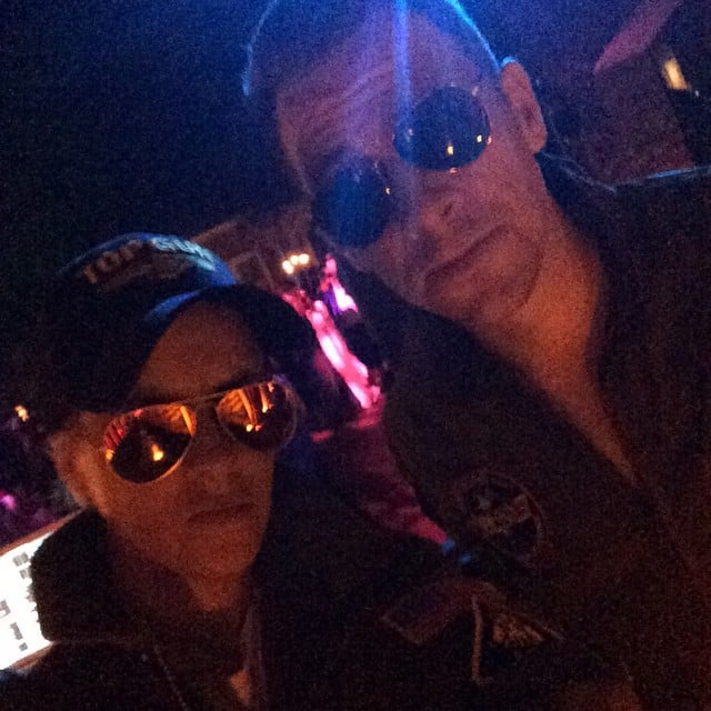 Top Gun was the theme for Samantha Ronson and her pal on Instagram in 2014.