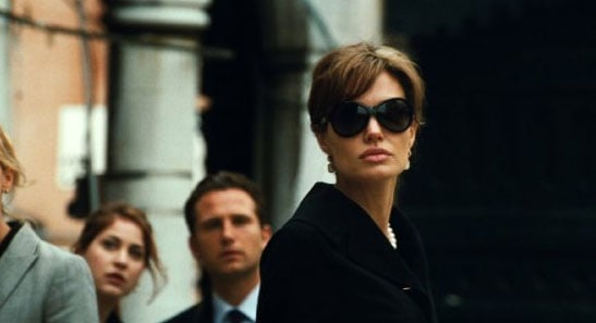 Angelina Jolie kept her eyes shaded for a her 2010 role in The Tourist. Photo courtesy of Columbia Pictures