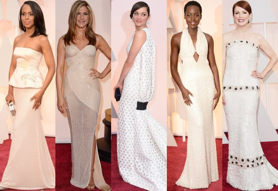 White Dresses at the Oscars 2015
