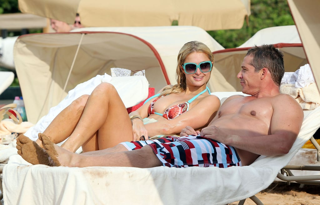 Paris and Nicky Hilton Have a Bikini and PDA-Filled Beach Day With Their Men