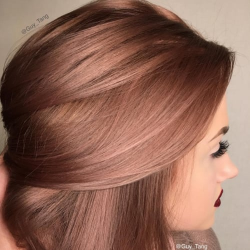 Rose Gold Hair Color Inspiration