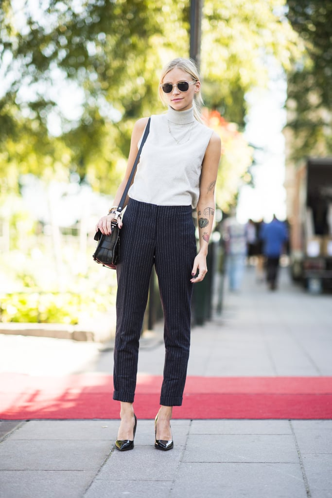 Never underestimate classics, like a great pair of trousers and pumps. Source: Le 21ème | Adam Katz Sinding