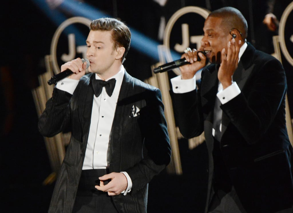 Justin Timberlake and Jay-Z performed at the Grammys.