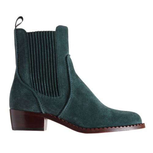 Pair these forest green Marc by Marc Jacobs Chelsea Boots ($239, originally $395) with a moody floral dress and tights for a feminine seasonal look.
