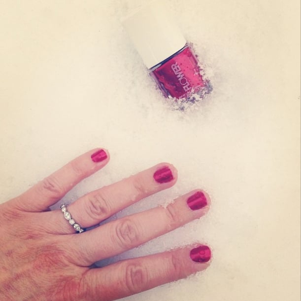 Hopefully Drew Barrymore didn't get frostbite on her flashy fingers. Source: Instagram user drewbarrymore