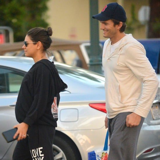 Pregnant Mila Kunis and Ashton Kutcher Go Grocery Shopping