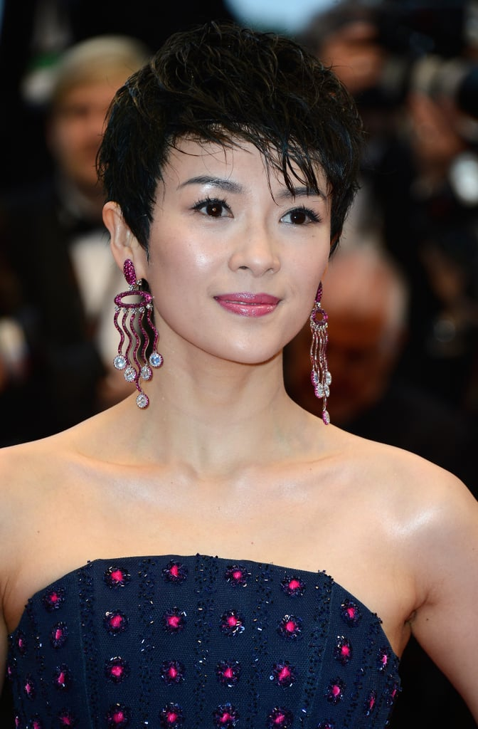 Zhang Ziyi debuted a new cropped pixie cut on the red carpet for The Great Gatsby in Cannes.