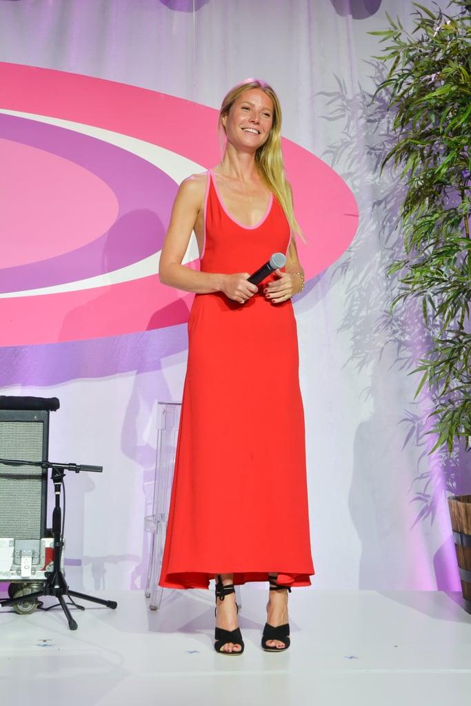 price of prada handbags - Gwyneth Paltrow Red Prada Dress August 2016 | POPSUGAR Fashion