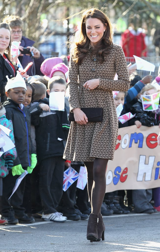 Kate Middleton got a giggle while visiting the Rose Hill Primary School in Oxford, England, in February 2012.