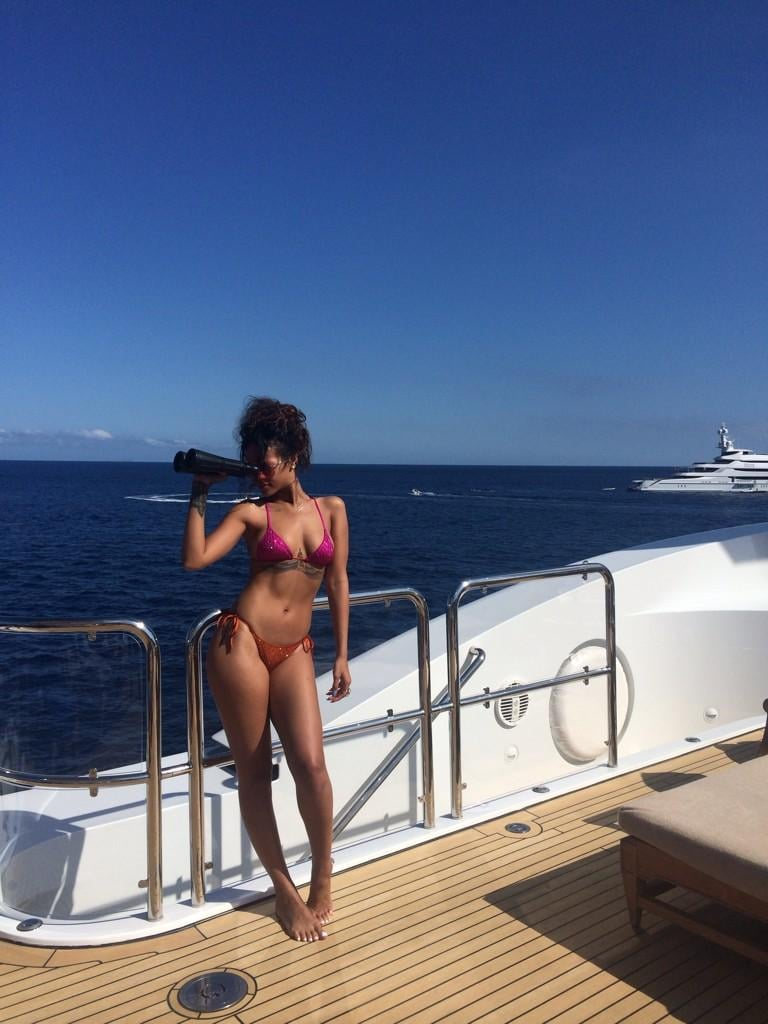Rihanna Brings Her Hot Bikini Party to Sardinia