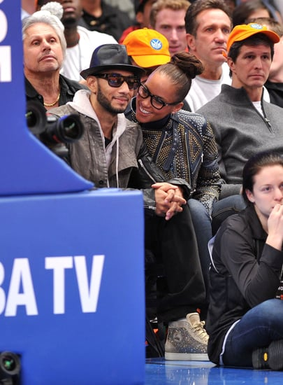 Pictures of Alicia Keys, Swizz Beatz, Kayne West and More at the Heat Versus Knicks Game