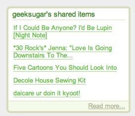 Geek Tip: Show Off Shared Google Reader Posts on Your Blog