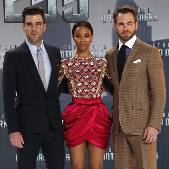 Chris Pine and Zoe Saldana Star Trek Germany Premiere