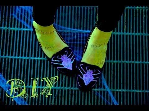 Halloween Costume Idea Spider Loafer DIY   Video
