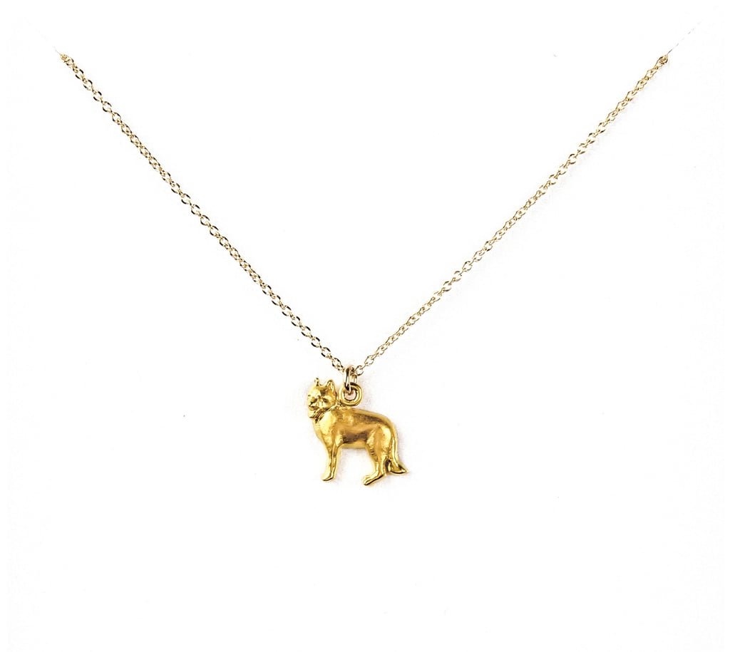 Wag by Dogeared German Shepherd Gold-Dipped Necklace ($58)