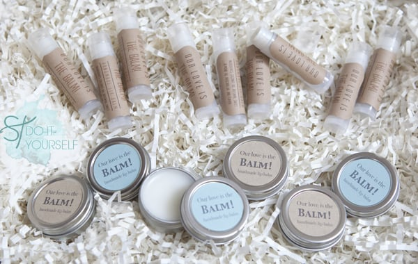 Lip Balm Wedding Favors