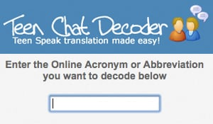 TeenChatDecoder Decodes Online Acronyms