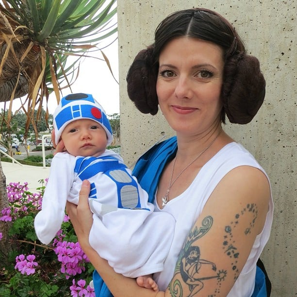 Princess Leia and R2-D2