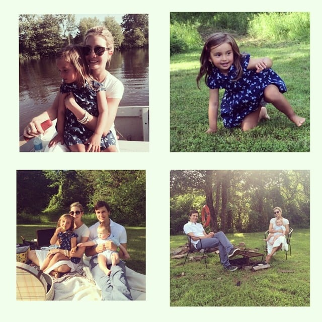 """Ivanka Trump shared a few photos from the Kushner family Father's Day celebration. She wrote, """"Celebrating the greatest father in the world with a surprise picnic and some row boating! #fathersday."""" Source: Instagram user ivankatrump"""