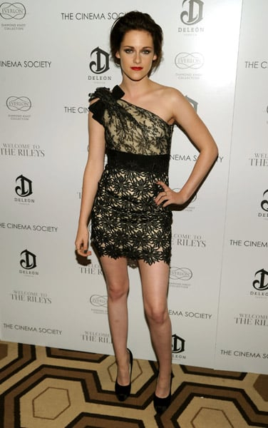 Kristen Stewart left us speechless in her Valentino Resort lace minidress. Perfect, simply perfect.