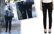 Michelle Trachtenberg's Black Moto Jeans Are On Sale For $81–Down From $245!