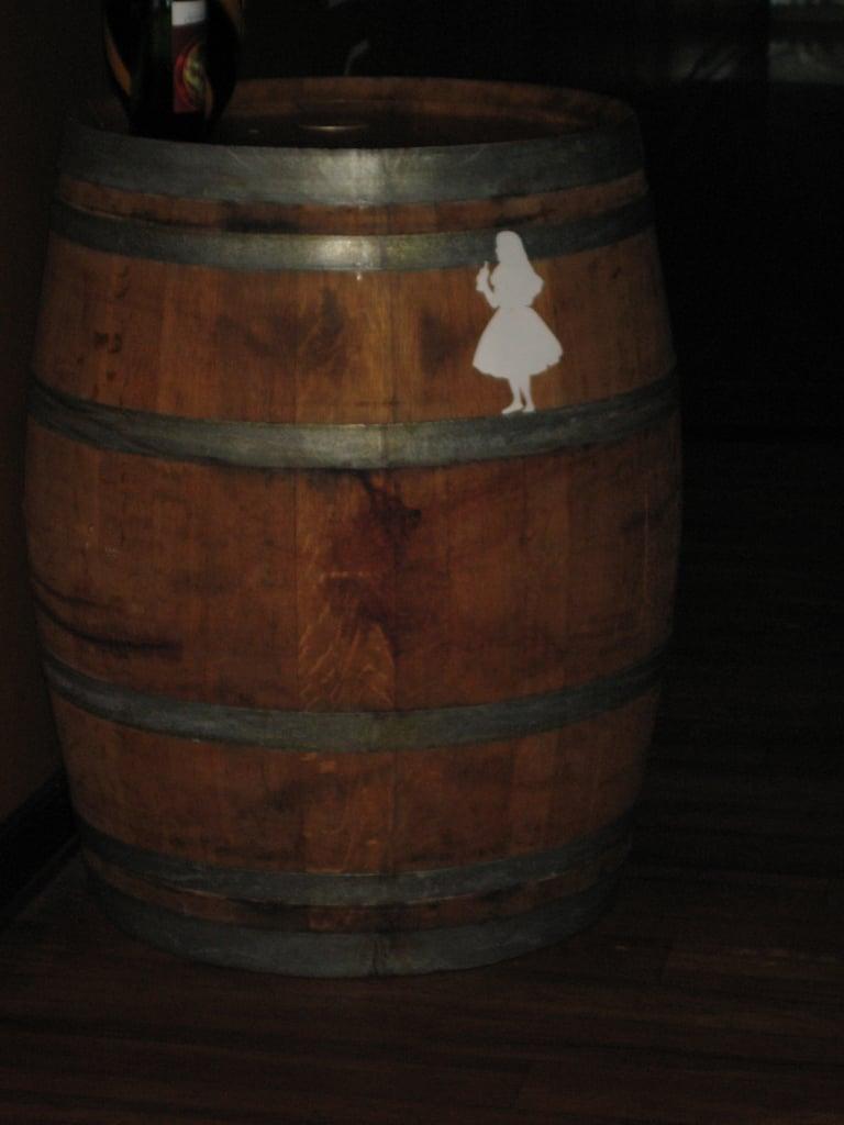 or on a barrel!