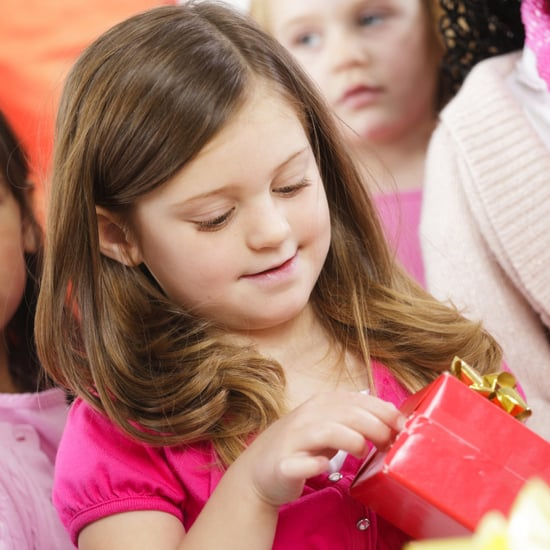 Opening gifts at Kids' Parties
