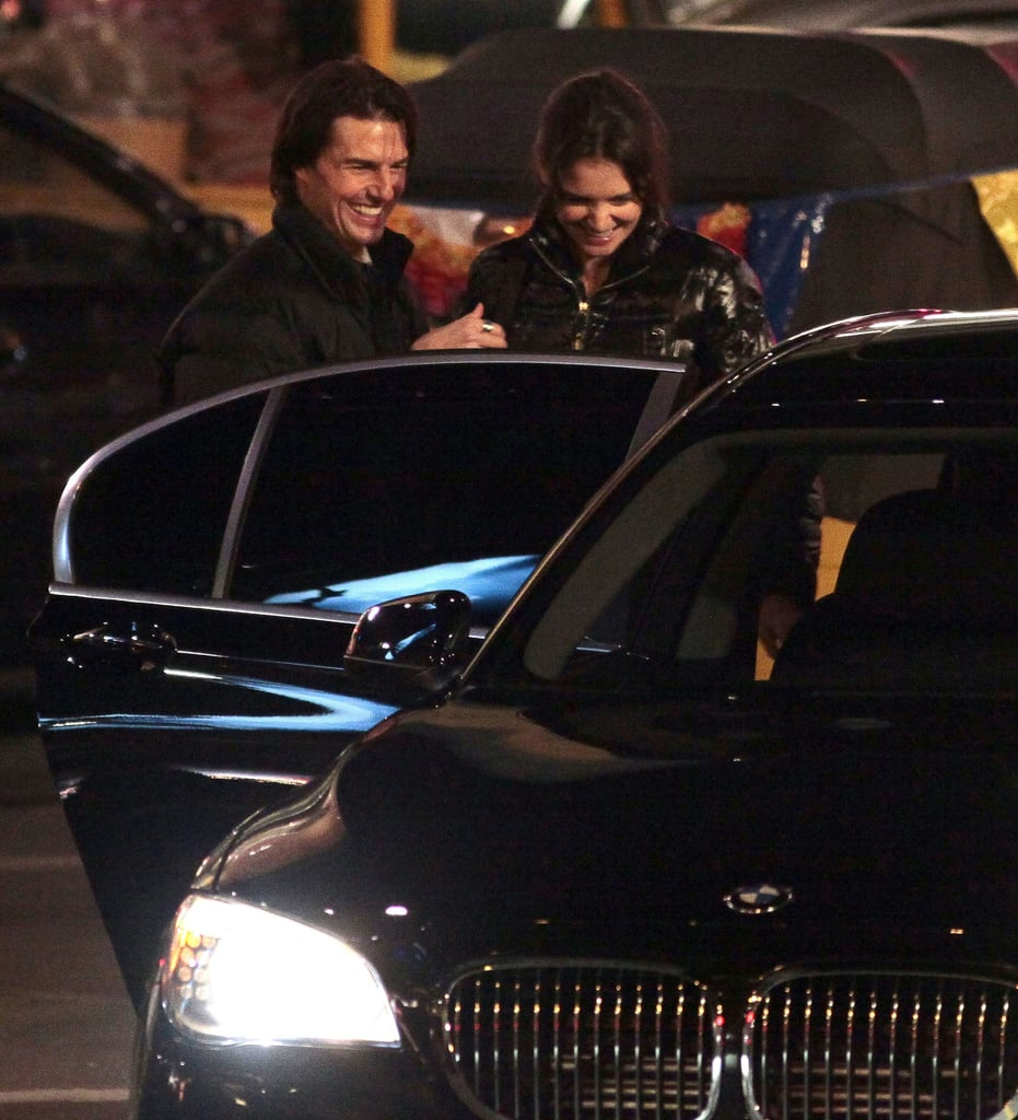 Katie and Suri Visit Tom on Set as The History Channel Shelves The Kennedys
